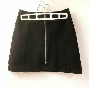 Black suede skirt